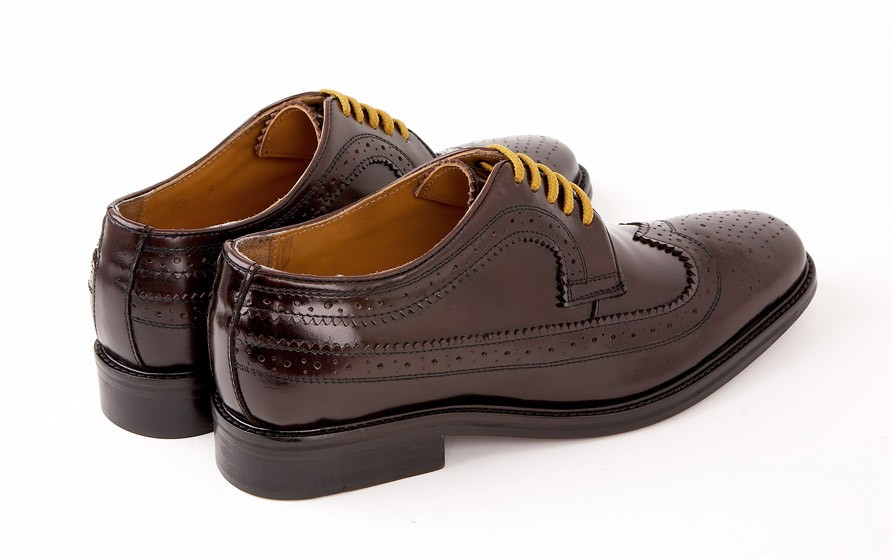 Delicious Junction Dekker Weller Brogue Shoes High Shine Oxblood Bordo Leather