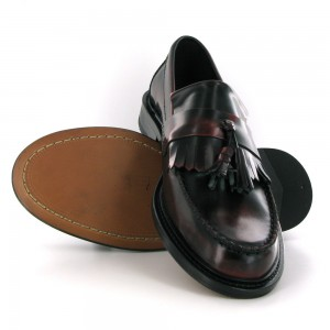 mod shoes ikon selecta oxblood tassel loafers