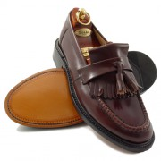 mod shoes loake brighton oxblood tassel loafer