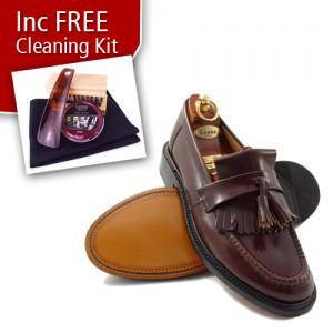 mod shoes loakes brighton tassel loafer oxblood burgundy