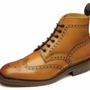 Tan Brogue Boots loake burford 01