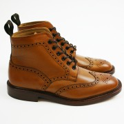Tan Brogue Boots loake burford 02