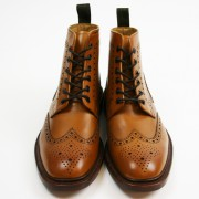 Tan Brogue Boots loake burford 03