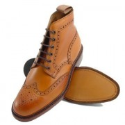 Tan Brogue Boots loake burford 05