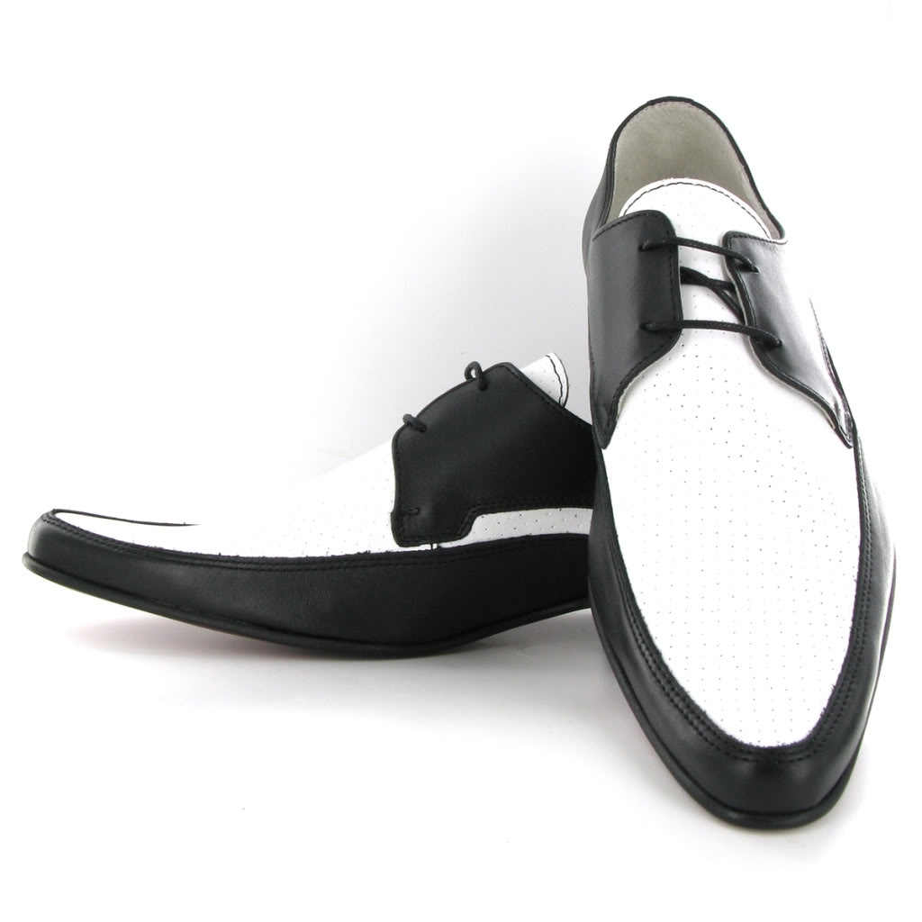jam shoes black and white by ikon mod shoes