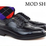 01 Mod Shoes Loake Royals with Black Argyle Socks