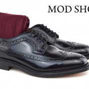 01 Mod Shoes Loake Royals with Burgundy Socks