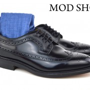 01 Mod Shoes Loake Royals with blue Socks