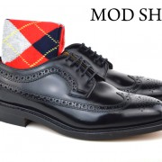 17 Mod Shoes Loake Royals with Red Argyle Socks