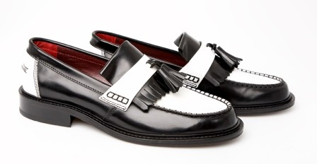98eddd4da51 mod shoes two tone black and white tassel loafers 02