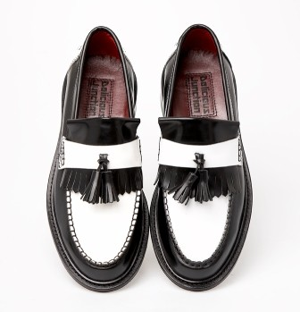 two tone rude boy special tassel loafer mod shoes