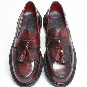 mod shoes tassel loafer tea bag styleACE-PUNCH-BORDO-4