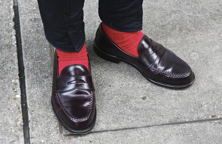 mod shoes red socks and loafers 02