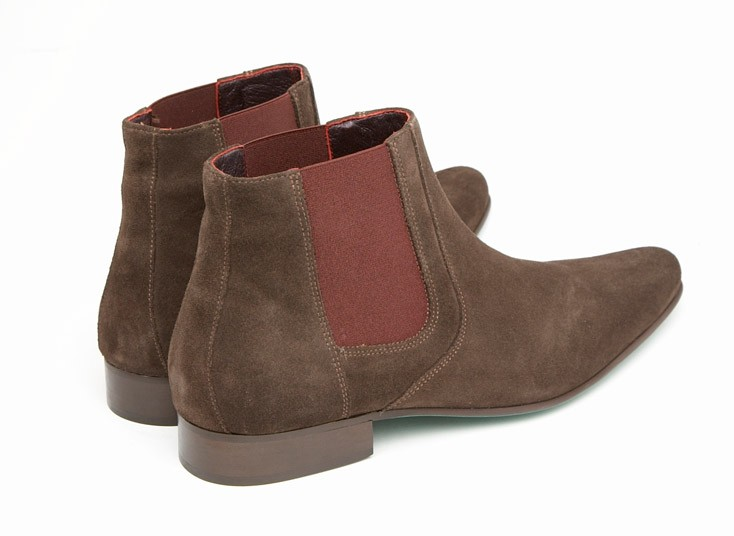 mod shoes chelsea boot brown suede 01