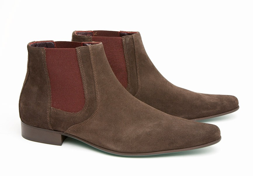 mod shoes chelsea boot brown suede 02
