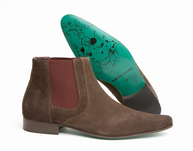 mod shoes chelsea boot brown suede 03
