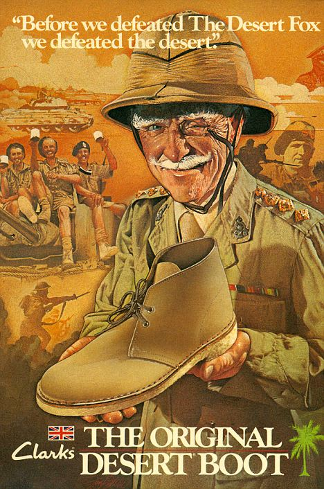 10 mod shoes orginal poster from 40s clarkes