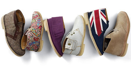 12 multi colour desert boots clarks