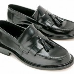 mod shoes ikon black tassel loafers 01