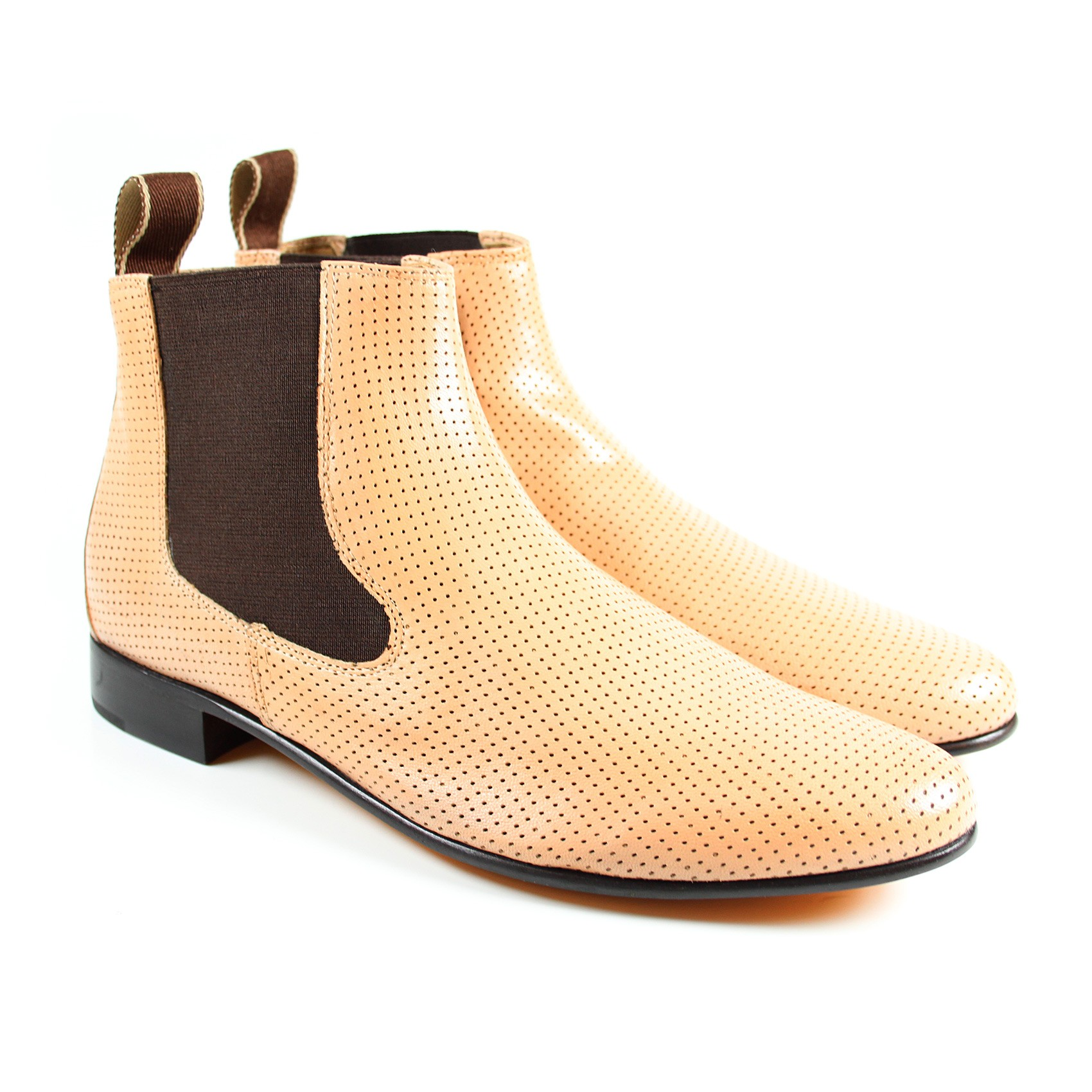 mod shoes ladies 60s chelsea boots amy-5-paston-perfo-sand_1_1