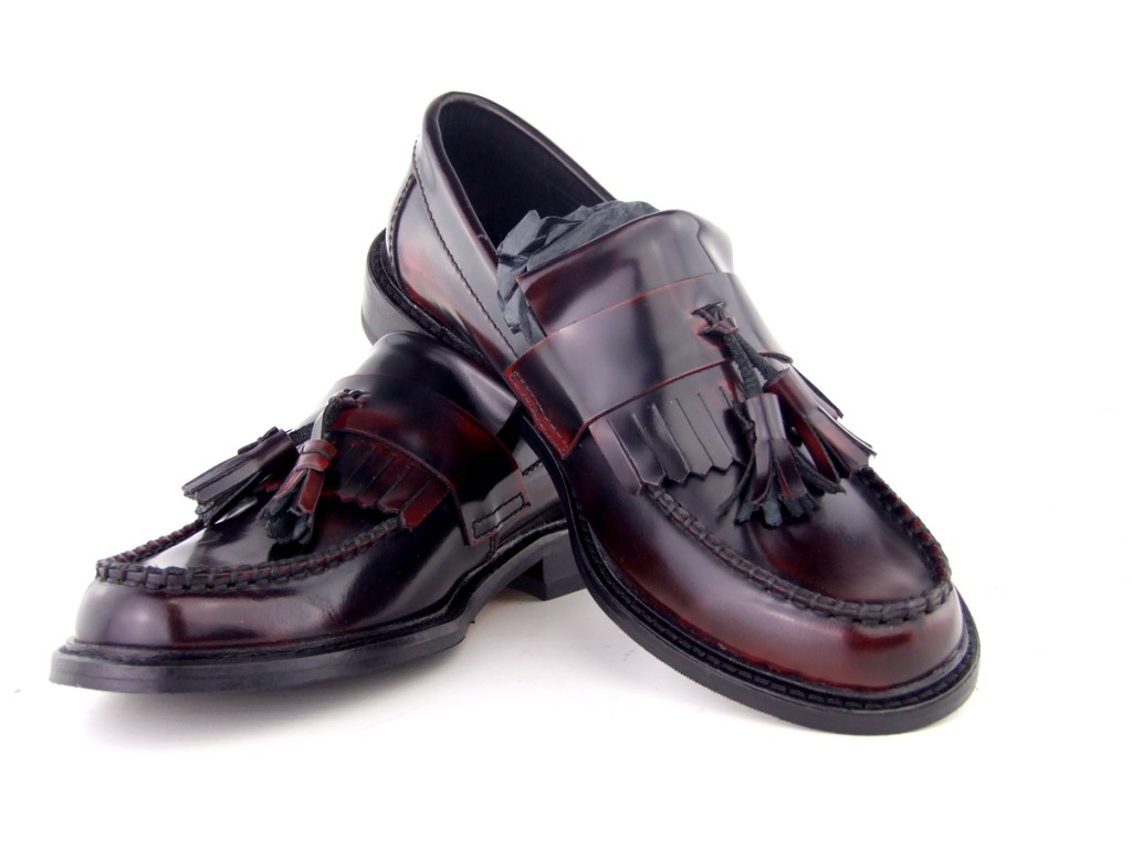14 mod shoes womens tassel loafers oxblood ska nothern soul shoes 01
