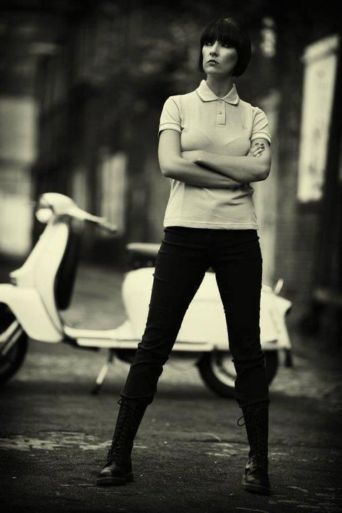 25 mod shoes mod girl Nikki Donohoe with lambretta