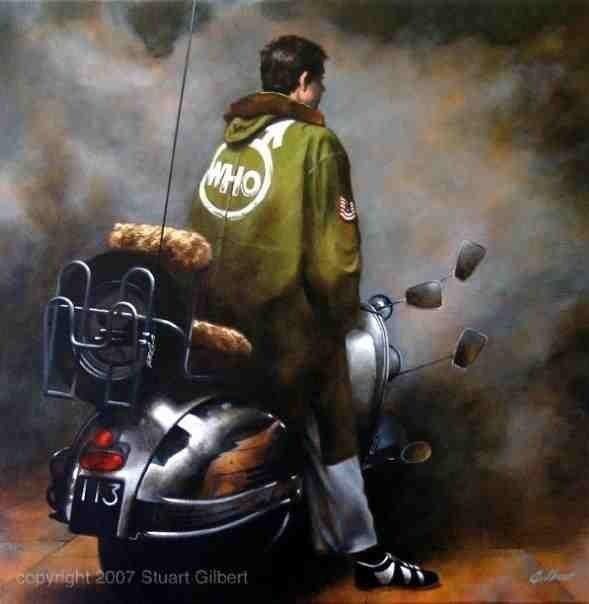 29 mod shoes nice painting of quadrophenia