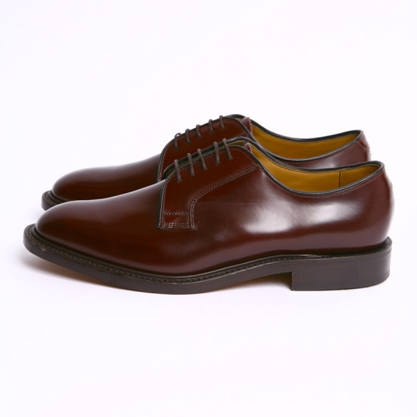 mod shoes loake 771 plain oxblood made in england shoes 01
