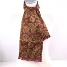 mod scarf vintage red and gold paisley