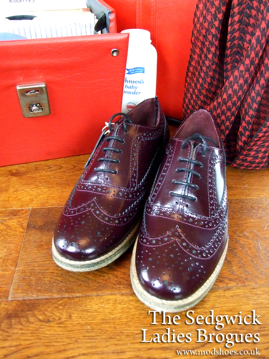 mod shoes ladies brogues oxblood burgundy copy