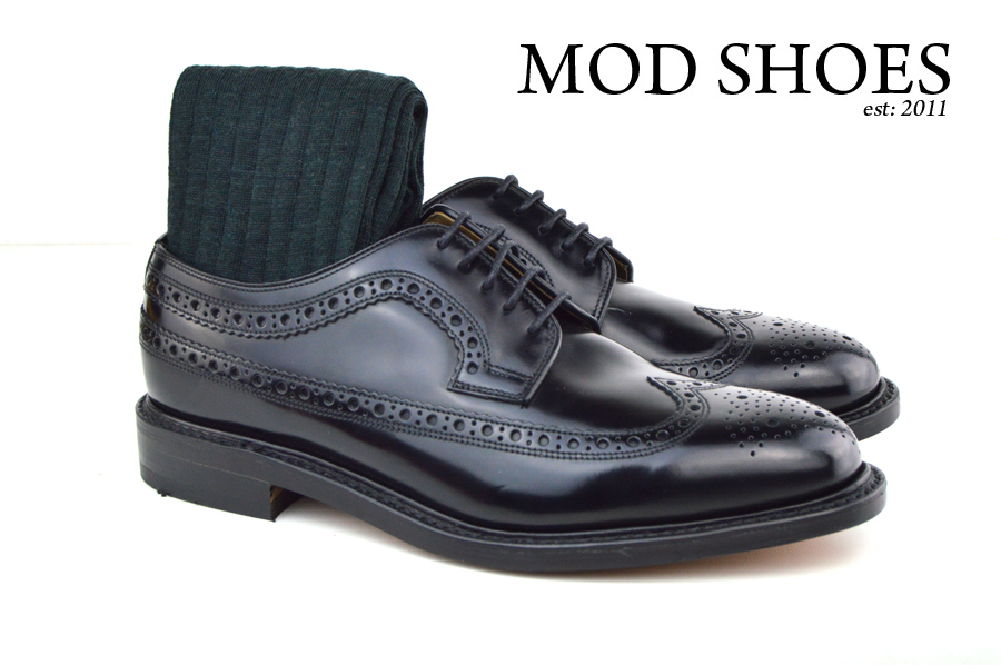 Mod Shoes Loake Royals with Dark Green Socks