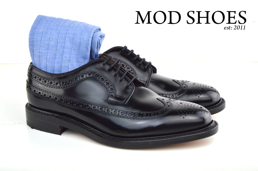Mod Shoes Loake Royals with Light Blue Socks (2)