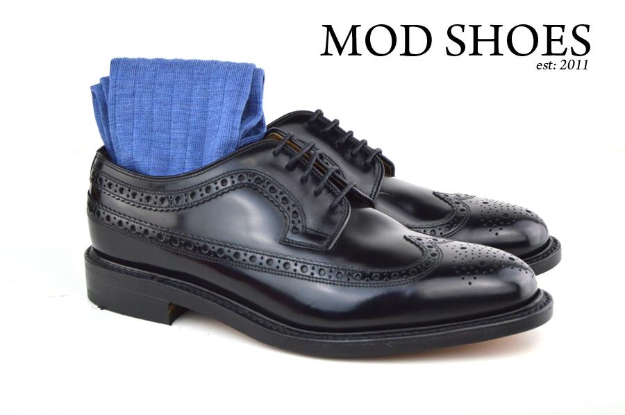 Mod Shoes Loake Royals with Light Blue Socks