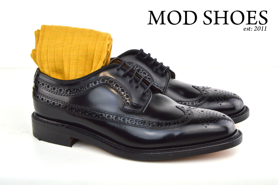 Mod Shoes Loake Royals with Mustard Socks