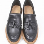 black Tassel Loafers leather sole UK english KINGSTON-BLK-001