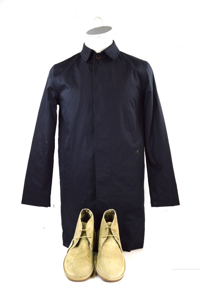 15 mod shoes blue overcoat with stone desert boots