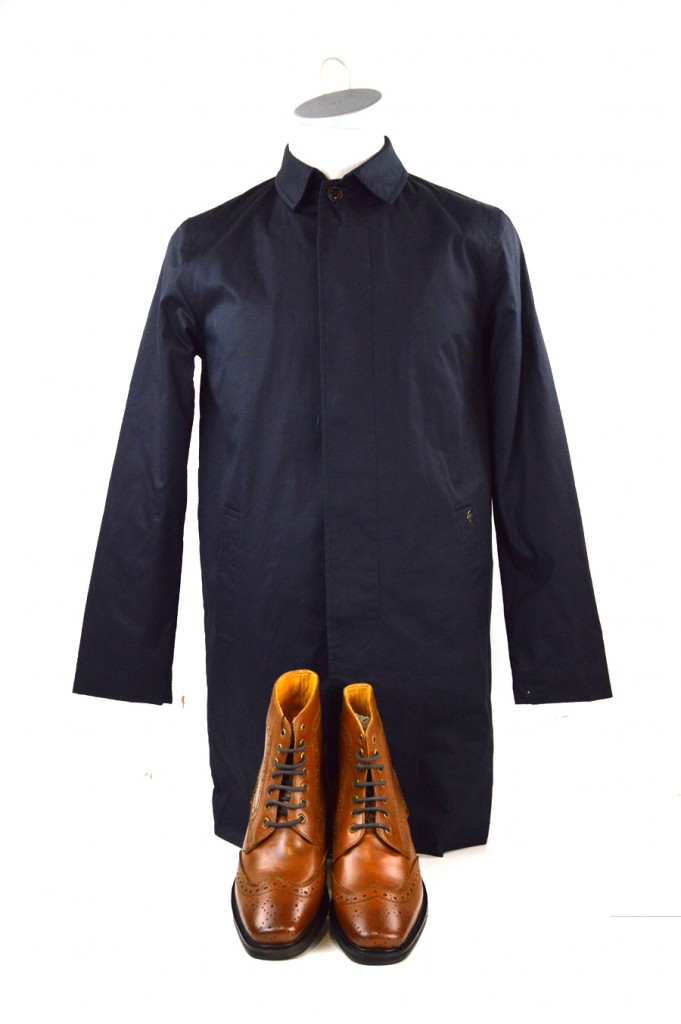 22 mod shoes tan brogue boots with coat form gabicci