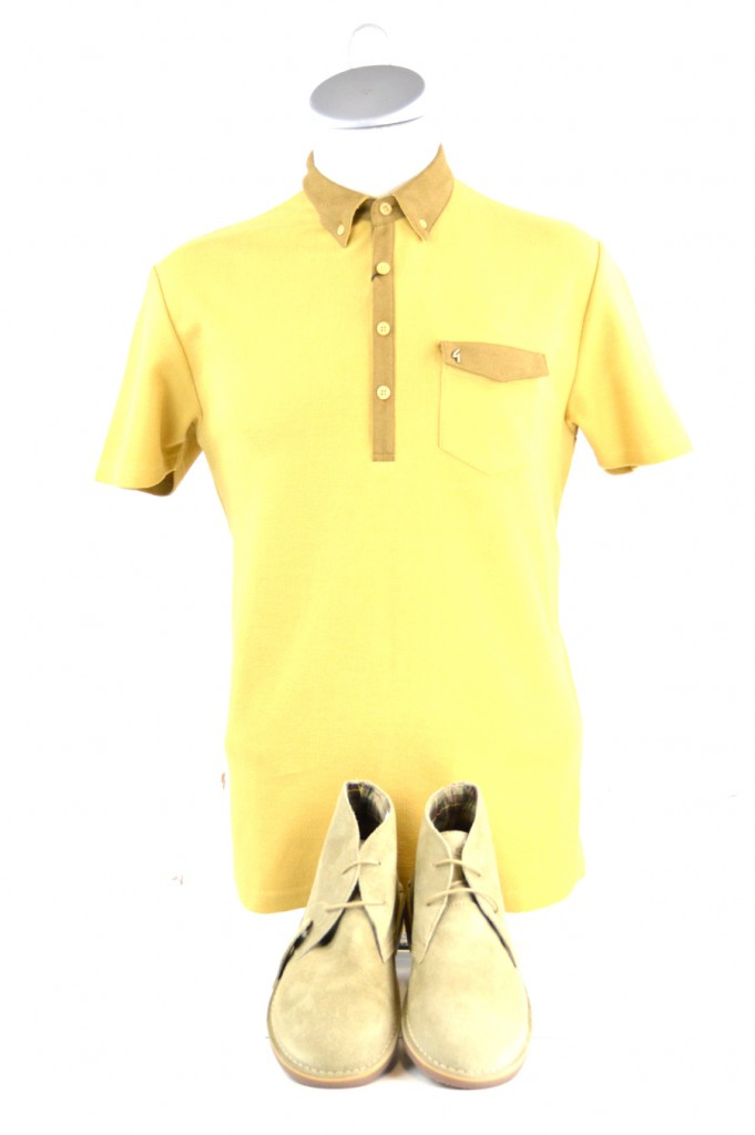 25 modshoes two tone polo top from gabicci and desert boots