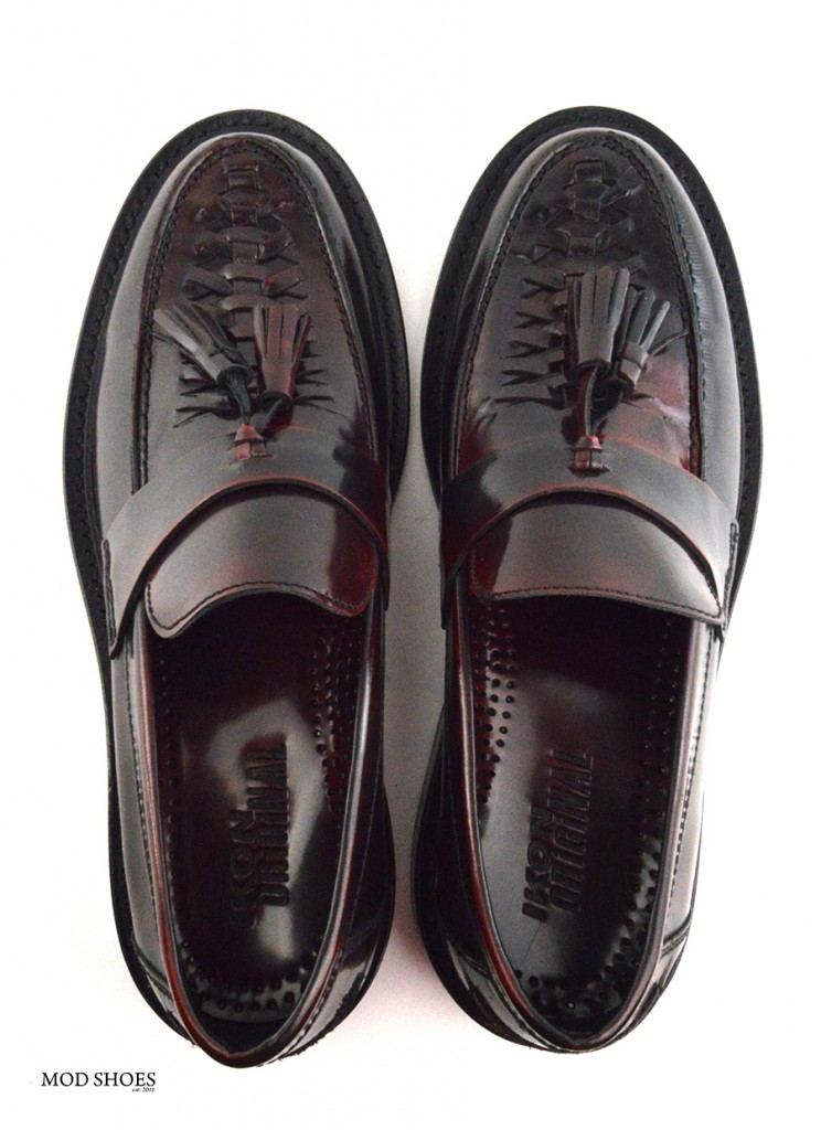 mod shoes basker weave tassel loafers pxblood burgundy allnighters 01