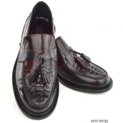 mod shoes basker weave tassel loafers pxblood burgundy allnighters 03