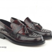 mod shoes basker weave tassel loafers pxblood burgundy allnighters 04