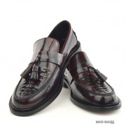 mod shoes basker weave tassel loafers pxblood burgundy allnighters 07
