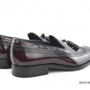 mod shoes brogue tassel loafers oxblood burgundy beckley 02