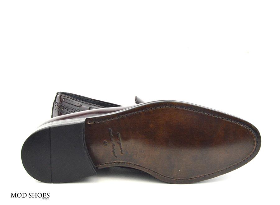 mod shoes brogue tassel loafers oxblood burgundy beckley 07
