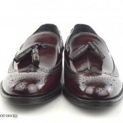 mod shoes brogue tassel loafers oxblood burgundy beckley 09
