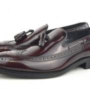 mod shoes brogue tassel loafers oxblood burgundy beckley 10