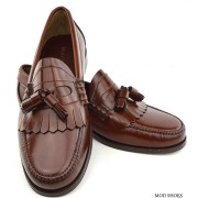 mod shoes brown duke tassel loafer 07
