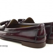 mod shoes ladies leather soled tassel loafer oxblood burgundy LaBelle 05