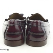 mod shoes ladies leather soled tassel loafer oxblood burgundy LaBelle 06