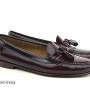 mod shoes ladies leather soled tassel loafer oxblood burgundy LaBelle 08